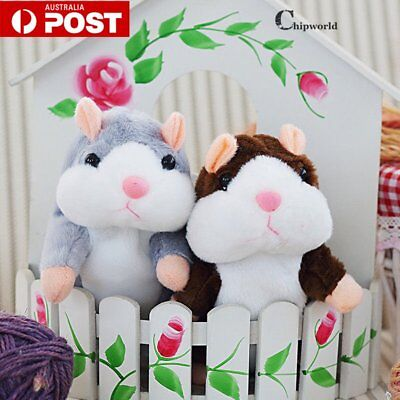 Talking Hamster Repeats What You Say Electronic Pet Plush Toy Kids Buddy Gift ga