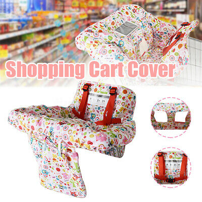 Baby Shopping Supermarket Trolley Cart Cover Seat Kids Chair W/ Safety Harness