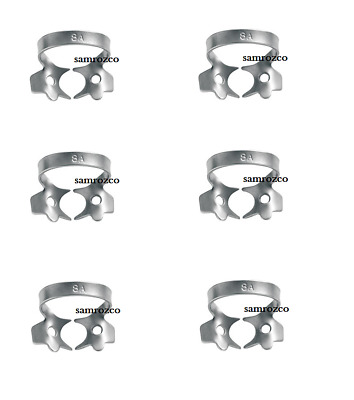 Pack of 6 - Dental Rubber Dam Clamps #8A Endodontic Clamp Surgical Instruments