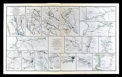 Civil War Map Savannah Goldsboro Richmond Washington DC North Carolina Virginia