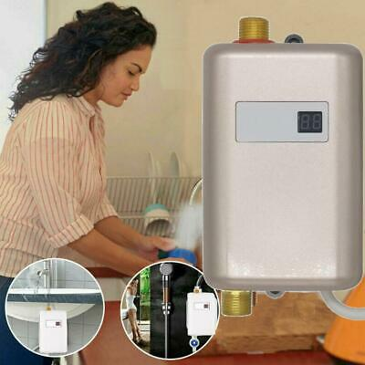 3000W Sink Tap Bathroom Kitchen Small Electric Tankless Instant Hot Water Heater