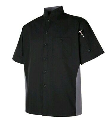 Cook Cool By Happy Chef Black Style#545 2XL Mens Shirt