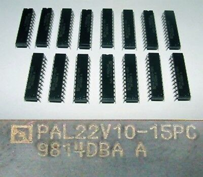 15x PAL22V10-15PC   PAL22V1015PC 9814DBA A -unused/OVP-