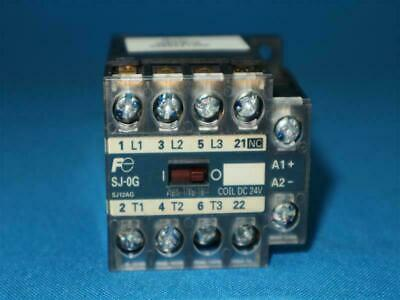 AUX 1a Warranty w//Base Fuji Electric Magnetic Contactor SJ-0G Used