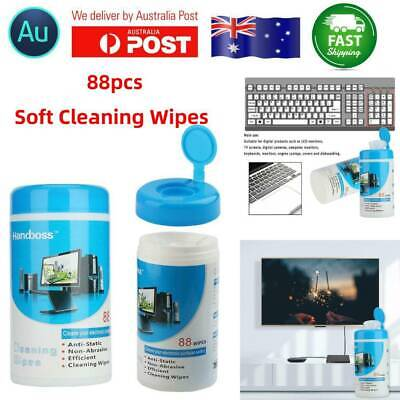 88pcs Cleaning Wipes Decontamination Cleaner for Laptop Monitor LCD TV Screen AU