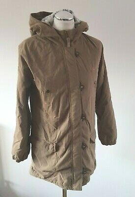 Mini Boden Girls Johnnie B Khaki Hooded Parka Coat, Age 13 - 14