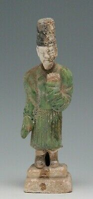 antique Chinese pottery Mingqi Tomb guardian attendant figure statue 22,5cm Ming