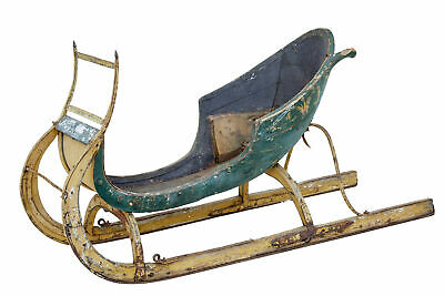 18Th Century Hand Painted Scandinavian Sleigh