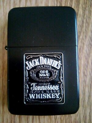 Brand New Jack Daniels Petrol Lighter and Ashtray Gift Set