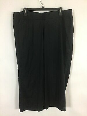 Womens RBX Relax Black Polyester Cropped Capri Athletic Pants Size XL