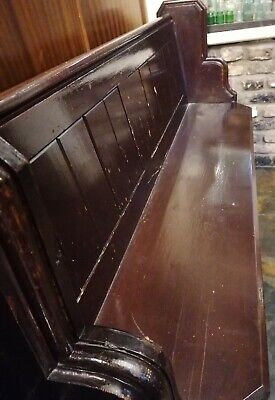Solid oak church pews Victorian several lengths available