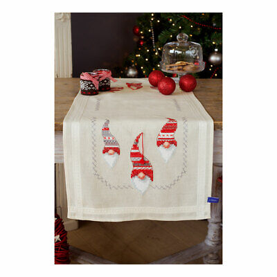 Vervaco Embroidery Kit Table Runner | Christmas Elves | 40 x 100cm