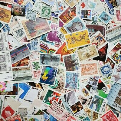 1000s DIFFERENT CANADA ONLY Stamps Collection Off Paper in Lot Pack of 100+