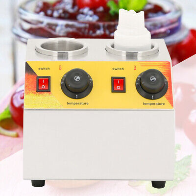 Stainless Steel Dual Unit Squeeze Electric Food Topping Warmer Dispenser