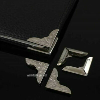 50Pcs DIY Metal Book Corner Protector Albums Frame Scrapbook Tutamen Folder