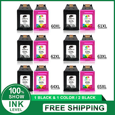 Combo Black & Color Ink Cartridge 65XL 63XL 62XL 64XL 61XL 60XL for HP Printer