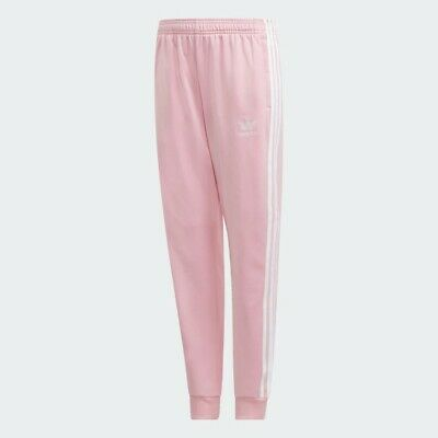 Adidas Originals Superstar Track Pants Girls Pink tracksuit bottoms 10/11 BNWT