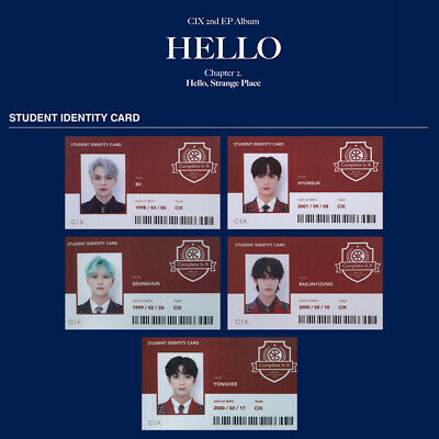 CIX Student Identity Card 2nd EP Album HELLO Chapter 2 Strange Place Version