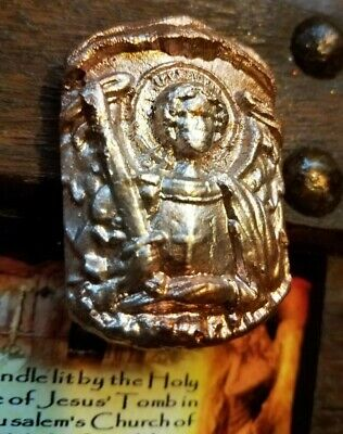 St. Michael Byzantine Styled Clay Seal Reliquary Holy Fire relic Tomb of Jesus