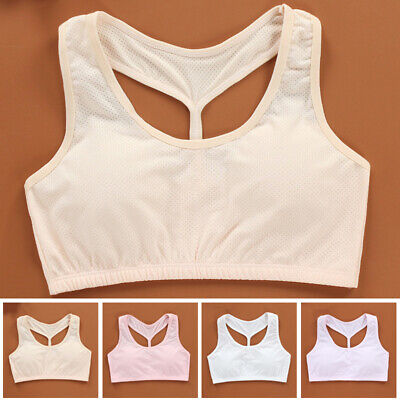 Young Tops Girls Bra Solid Tops Fashion Teenager Training Bra Stretch Vest