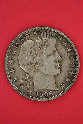 1906 D Barber Liberty Half Dollar Exact Coin Pictured Flat Rate Shipping OCE 95
