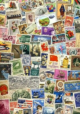 100 Different World Stamps From Huge Collection - Many Different Countries
