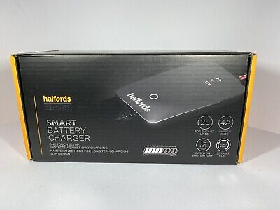 Halfords Car Battery Smart Charger For 12V Vehicles Up To 2.0L Start Stop New