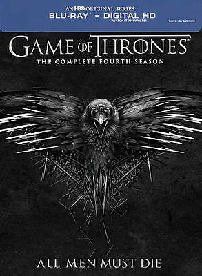 Game of Thrones COMPLETE Season FOUR 4 (Blu-ray 4DISC) NO CASE NO ART DISCS ONLY