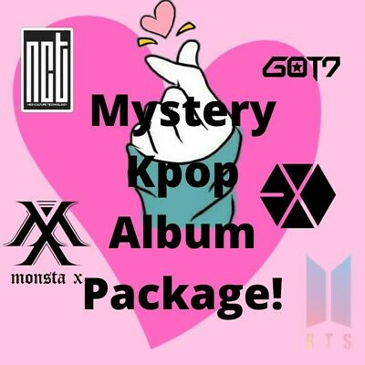 Mystery Kpop Album (could be signed) +Photocard +Gift (BTS, NCT, Got7, Monsta X)