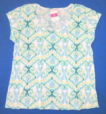FRESH PRODUCE Mint Green SMALL Vintage Pinstripe Slub Cotton Scoop Top NWT New S