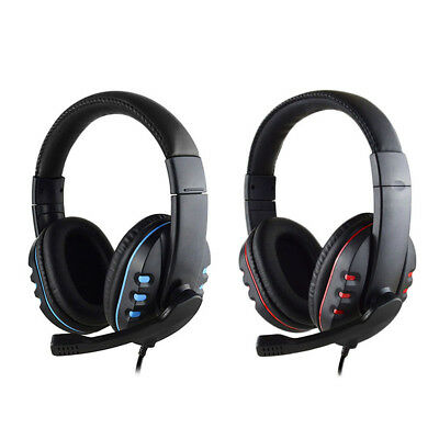 Durable Stereo Gaming Headset Headphone Wired with Mic for PC Xbox One PS4 WT
