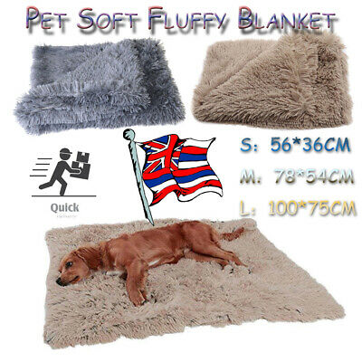 Extra Large Pet Dog Cat Puppy Blanket Pet Soft Fluffy Cosy Warm Throw Mat Bed