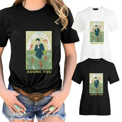 Harry Styles 'Adore You' - Black T-shirt Musical Casual Tee Short Sleeve Tops UK