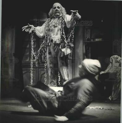 1980 Press Photo Milwaukee Repertory Theater's production of A Christmas Carol.