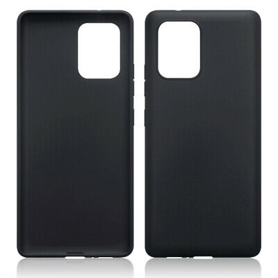 TPU Gel Case / Cover for Samsung Galaxy A91 - Solid Black Matte Finish
