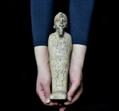 ANCIENT EGYPT ANTIQUE EGYPTIAN LARGE USHABTI of king 33 cm