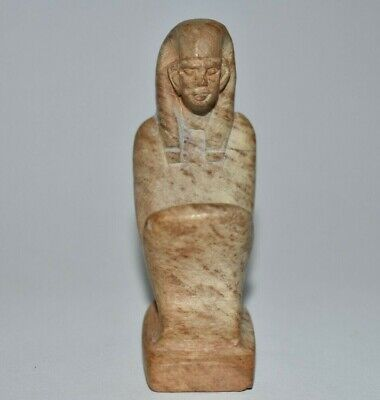 ANCIENT EGYPT ANTIQUE Egyptian STONE STATUE OF A KNEELING FIGURE