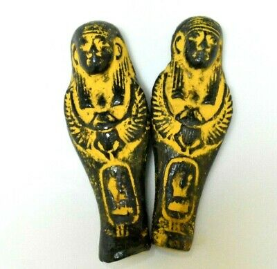 ANCIENT EGYPT ANTIQUE Egyptian two small faience ushabti