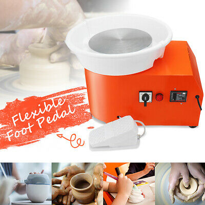 350W Electric Pottery Wheel Machine Ceramic Clay Art Foot Pedal DIY Craft Work