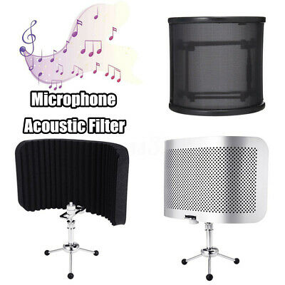 Studio Microphone Isolation Shield Reflection Filter Mic Acoustic