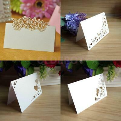 SILVER 24 Table Place Name Setting Meal Cards Wedding Party Birthday Dinner Xmas