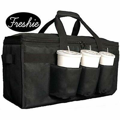 Pizza Delivery Bags Insulated Food With Cup Holders/Drink Carriers Premium XXL,