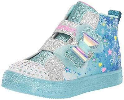 Skechers Kids Girls' Shuffle Lite-Let It Sparkle Sneaker, Blue/Multi, 12 M US