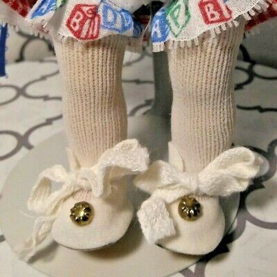 "1950's HongKong NOSS WHITE SHOES & SOCKS fit 7-8"" DOLL GINNY WENDY MUFFY ALEX +"