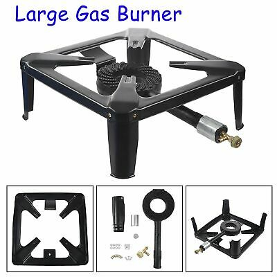 Large Heavy Duty Cast Iron LPG Gas Burner Cooker Boiling Ring Outdoor 40CM Black