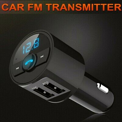 Bluetooth Coche Transmisor de FM Radio MP3 Reproductor Cargador USB Mechero A2DP