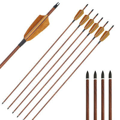 """28""""/29""""/30""""/31""""Archery Carbon Arrows Turkey Feather Hunting Compound Recurve Bow"""