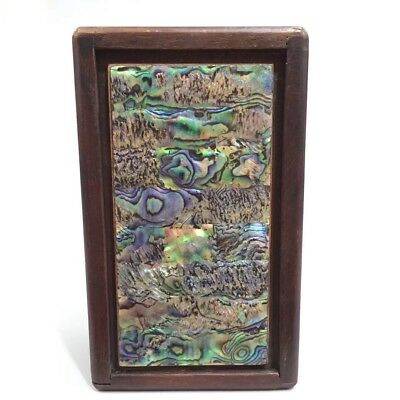 Chinese Antique Old Shell inlaid jewelry box