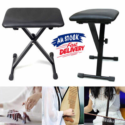 Piano Stool Black 3 Way Keyboard Seat Portable Folding Chair Adjustable ACB#