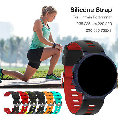 Replacement Watch Strap Soft Silicone Band For Garmin Forerunner 235/230/630/220